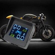 Système dalarme TPMS USB 2020, rechargeable, surveillance de la pression des pneus et de la température des pneus de moto, avec 2 capteurs externes
