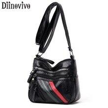 DIINOVIVO Patchwork Shoulder Messenger Bag Women Soft Handbag Female Ladies Casual Small Bags For Crossbody WHDV1285