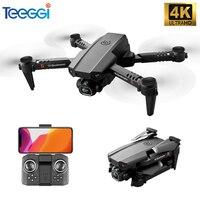 Teeggi XT6 Mini Drone 4K HD 1080P Cámara FPV Drone Quadcopter altitud plegable RC Quadcopter Drone juguetes de los niños del M73 KF611