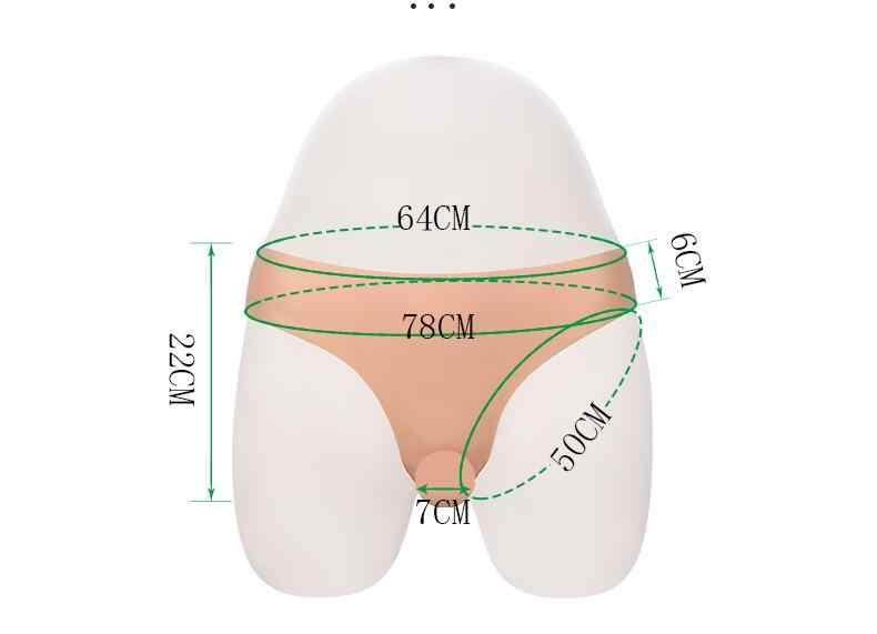 실리콘 가짜 질 속옷 팬티 남자 Penetratable 질 복서 팬티 Crossdresser Transgender Shemale Gaff Soft Tits