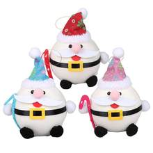 3pcs Holy Egg Old Man Ornament Christmas Tree Party Hanging Ornament Decoration Party Supplies Lovely Santa Doll(China)