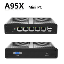 Mini PC PFsense Server Celeron J1900 Fanless Gigabit Firewall Windows 10/8/7 Nettop HTPC RJ45 VGA Minipc Industrie Computer