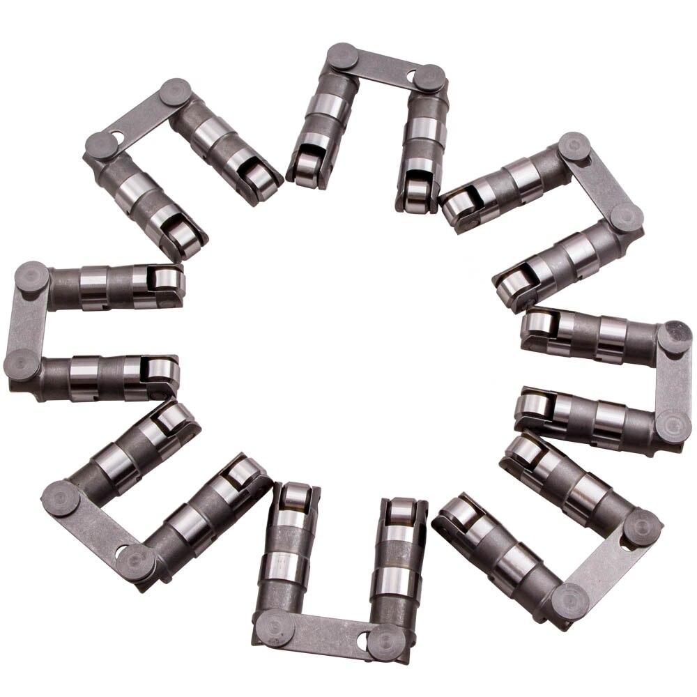 16 releveurs hydrauliques de rouleau avec le petit bloc de barre de lien pour Chevy SBC 350 265 400 V8