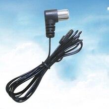 1pc czarna antena FM Radio odbiornik stereo złącze sygnału dla ohm UNBAL 75