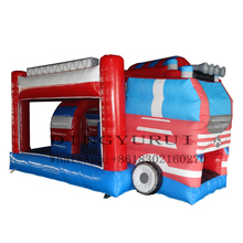 Popular Customized Commercial Bus Castle Inflatable Bouncer House for Kids