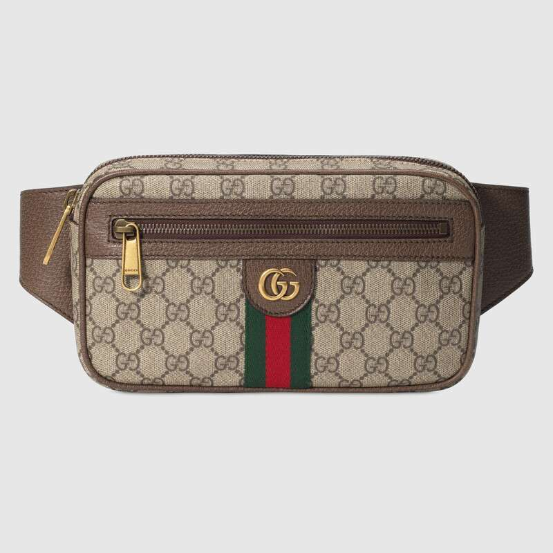 Unisex Gucci Ophidia GG Belt Bag Waist Bags Women Female Belt Waist Packs Chest Phone Pouch ‎574796 97SIT 8747