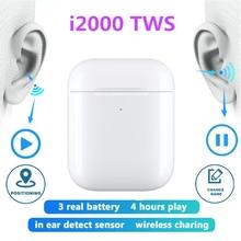 цена на Air 2 TWS Headphones Wireless Bluetooth 5.0 Earphone In-ear Headset GPS Renamed With Mic Music Stereo Earbuds In-ear Headset
