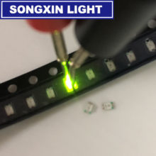 100 pces ultra brilhante 0805 smd led verde novo lighte 560-575nm 70-200mcd i (ma):20ma