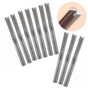 Image 1 - 100 adet 3.175mm iki flüt düz slot end mill CNC iki boyut kesme araçları yönlendirici bit
