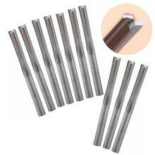 50 חתיכות 4mm שני חלילים ישר חריץ סוף מיל CNC שני ממד חיתוך כלים קצת הנתב