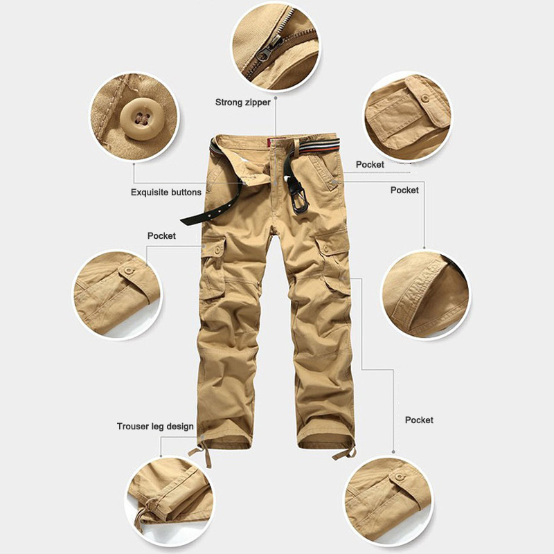 Men Outdoor Pants Three-Dimensional Pockets Multi-Functional Casual Pants 2019 Autumn Trousers Outdoor Multi-Pocket Men Pants