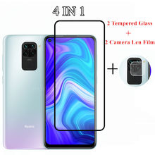 4 in 1 Tempered Glass For Redmi Note 9 9S 8T 8 9 Pro 9A 7A 8A 9C Screen Protector Camera Lens Film For Xiaomi Redmi Note 9 Glass