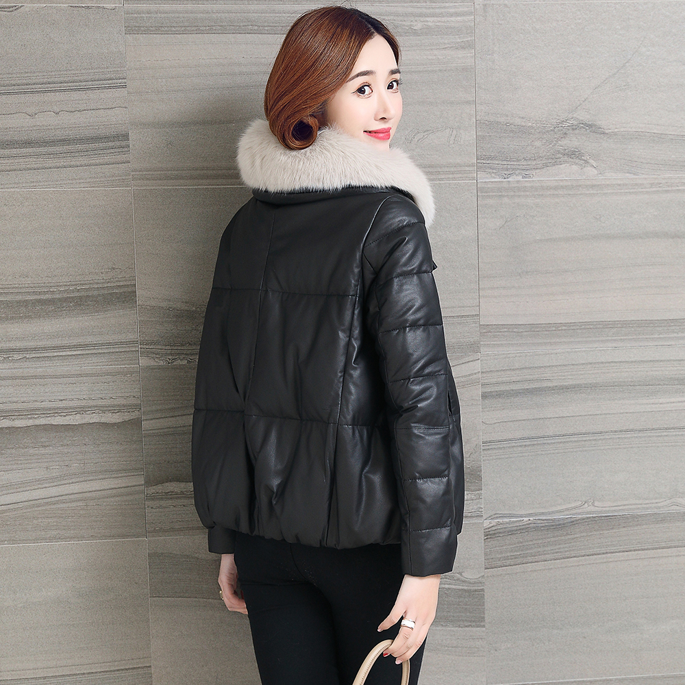 Leather Genuine 2020 Jacket Winter Jacket Women Fox Fur Collar Down Jackets 100% Real Sheepskin Coat Chaqueta Mujer MY S
