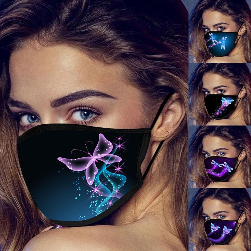 Viso maschera Per Adulti Viso Maschera di Moda Farfalle Stampa Lavabile E Riutilizzabile Maschera Antipolvere Antivento Traspirante Viso Maschera