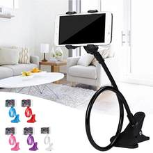 Mobile Lazy Bracket Two Clamp Flexible Phone Stand Holder for Cellphone Support lazy arm phone holder