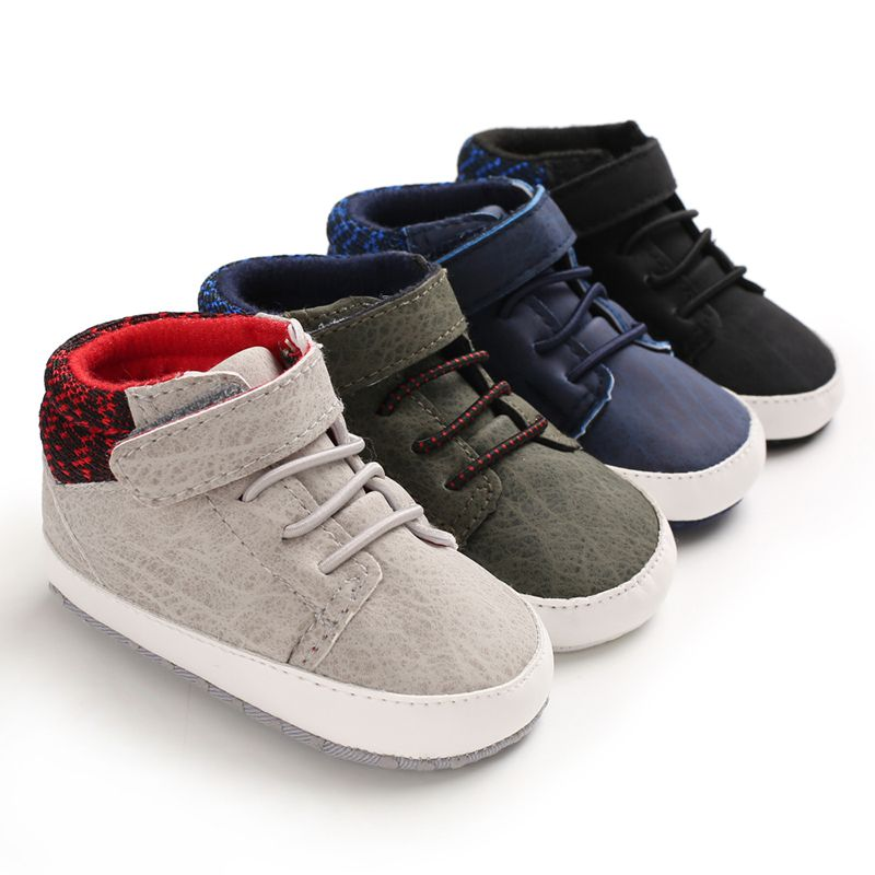 2020 Autumn Winter New Infant Baby Boy Sneaker Casual Anti-Slip Patchwork Soft Soled Comfortable High Quality First Walker Shoes