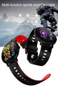 Image 2 - BINSSAW Full Touch Screen  IP68 Waterproof Multi function Sports Smart Bracelet Heart Rate Tracker Blood Pressure Smartwatch