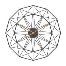 1PC 60cm רטרו נורדי סוג אילם שעוני קולב ברזל אמנות גדול שקט תליית שעון קיר בית סלון שינה דקור חדש