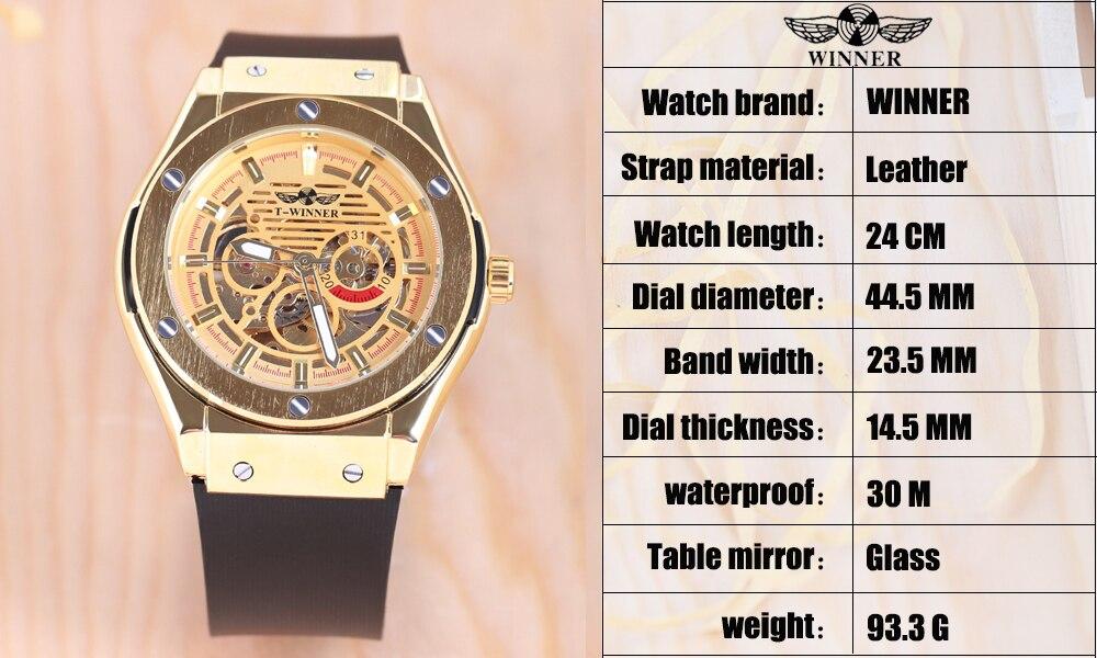 mecânico automático relógio montre homme luxe masculino