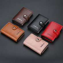 Men Card Bag Leather Automatic Popup Credit Card Bag Men Anti-theft Card Package Coin Purse RFID Anti Theft Wallet цена и фото