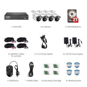 Image 2 - ZOSI Système de Surveillance vidéo Super HD 4K 8 canaux H.265 + DVR avec disque dur de 2 to et caméras étanches 4x4 K (8MP) Ip67