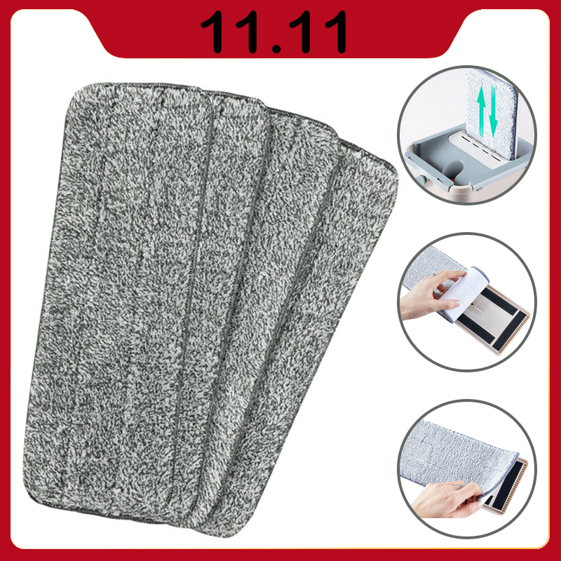 4/6/10 PCS Microfiber Mop Cloth Kitchen Floor Cleaning Flat Mop Rag Bathroom Replacement Mop Pads Household Cleaning Tools