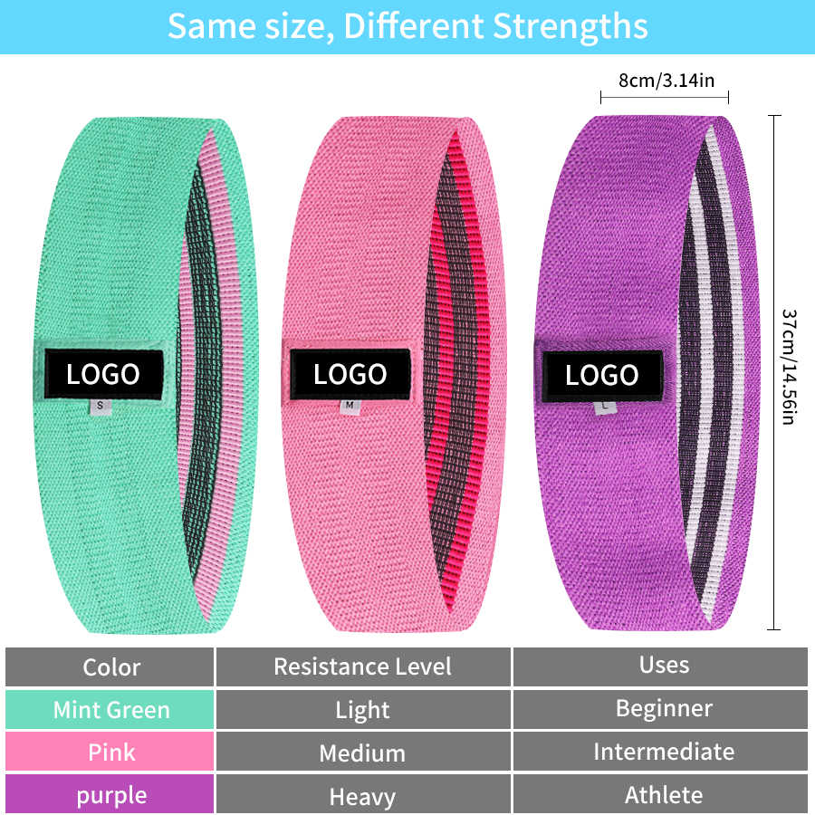 Stof Weerstand Hip Band Elastische Fitness Expander Glute Bands Krachttraining Body Booty Bands Workout Oefening Apparatuur