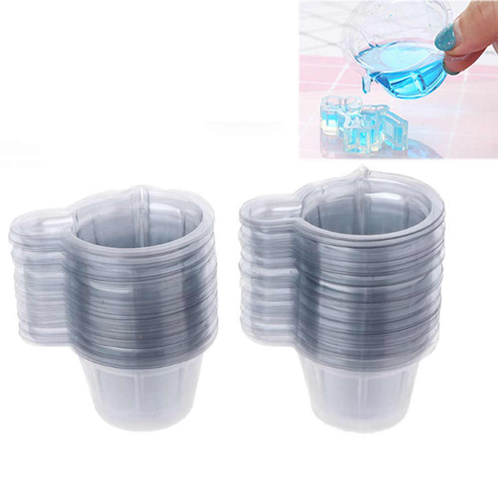 20/50/100Pcs 40ML Plastic Disposable Cups Dispenser For DIY Epoxy Resin Jewelry Accessories Making Tools