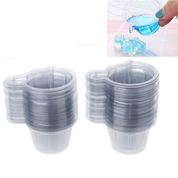 20/50/100Pcs 40ML Plastic Disposable Cups Dispenser For DIY Epoxy Resin Mold Silicone Jewelry Accessories Making Tools