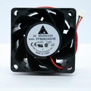 2 unidades/lotes 6 centímetros Delta Original 6038 V 0.40A 24 FFB0624SHE 60*60*38MM 3-linhas de Ar Inversor Ventilador De Refrigeração