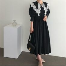 Женское винтажное платье макси rugod с воротником Питер Пэн