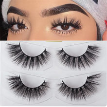 Thinkshow 3D Mink Lashes Hair 10Pairs False Eyelashes Fluffy Wispy Thick Lashes Handmade Soft Eye Makeup Eyelash Extension Tools