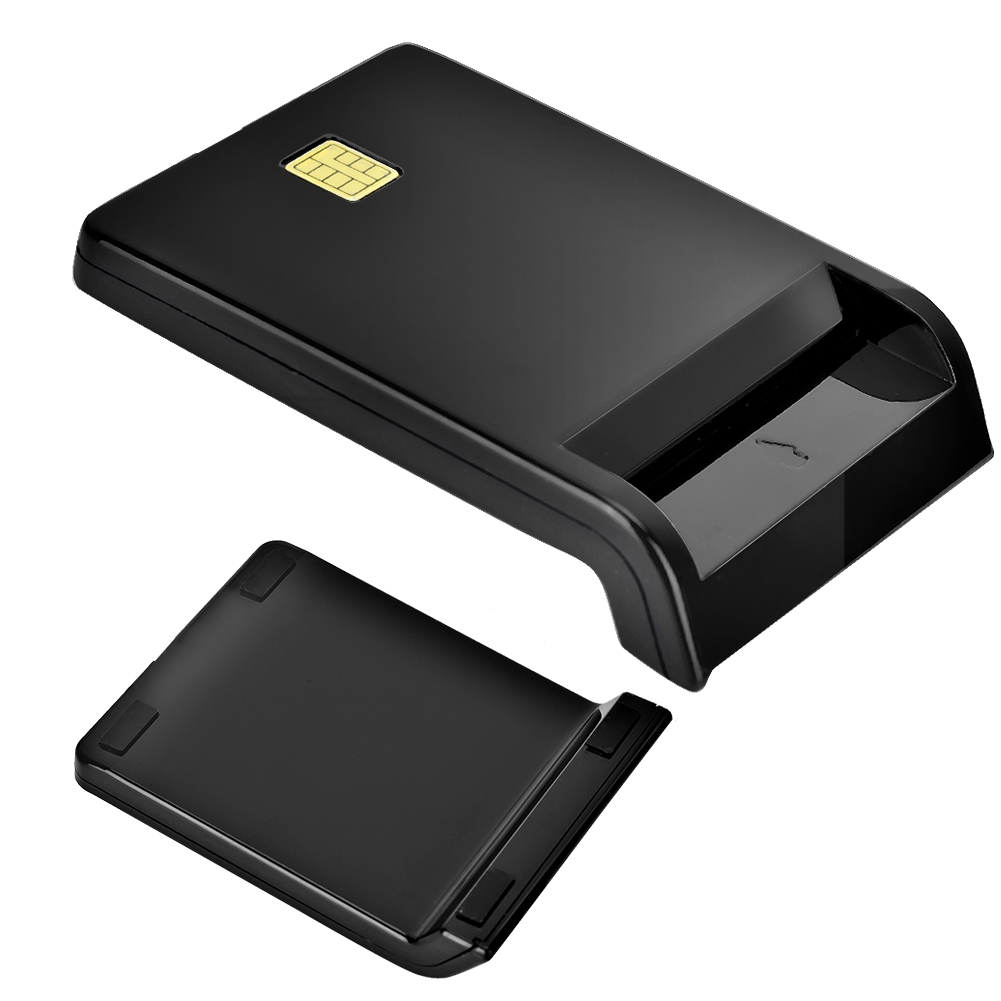 SIM/ATM/IC/ID Bank Card Smart Card Reader USB Adapter Support Banks Post Office Chip Cards For Contact Smart Card Operations