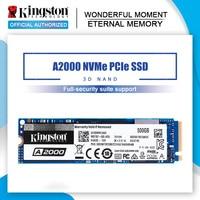Kingston nowy A2000 NVMe PCIe M.2 2280 SSD 250GB 500GB 1TB wewnętrzny dysk SSD dysk twardy SFF do komputera Notebook Ultrabook