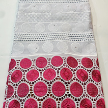 Embroidery Voile Lace Fabric Party-Dress Nigerian Cotton High-Quality African Soft White
