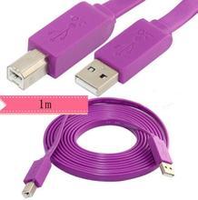 LBSC 3FT Flache Typ USB 2,0 A Stecker auf B Stecker Drucker Kabel
