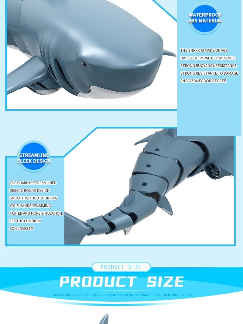 peixes controle remoto elétrico tubarão brinquedo crianças presente
