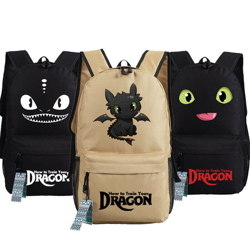 New How To Train Your Dragon Backpack Unisex School Book Bag Game Rucksack Gift 16Colors K004