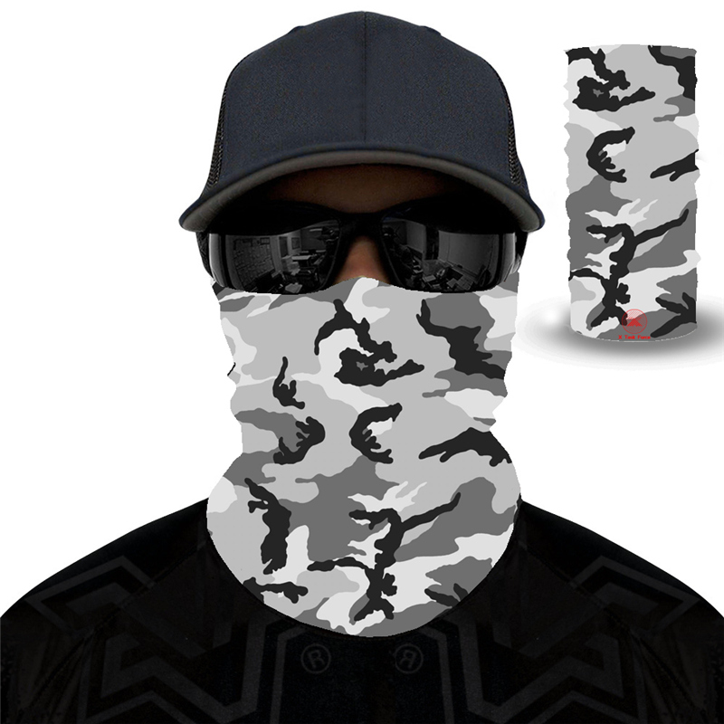 Camouflage Riding Bicycle Motorcycle Bandanas Variety Turban Hood Magic Headband Veil Head Scarves Multi Function Ski For Sport