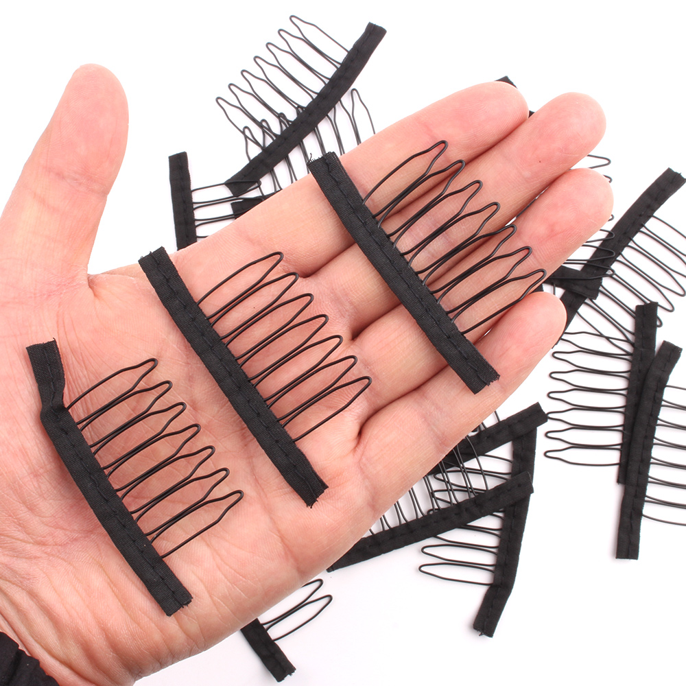 10-20Pcs/Lot Wig Combs For Wig Caps  Factory Supply Wig Clips For Hair Extensions Best Clips For Wigs Big 7 Theeth