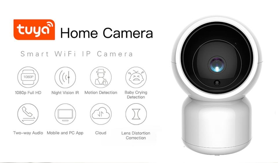 Tuya inteligente 1080 p hd wifi câmera