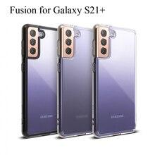 Ringke Fusion מיועד Galaxy S21 בתוספת סיליקון מקרה גמיש Tpu ושקוף קשיח מחשב חזרה כיסוי היברידי