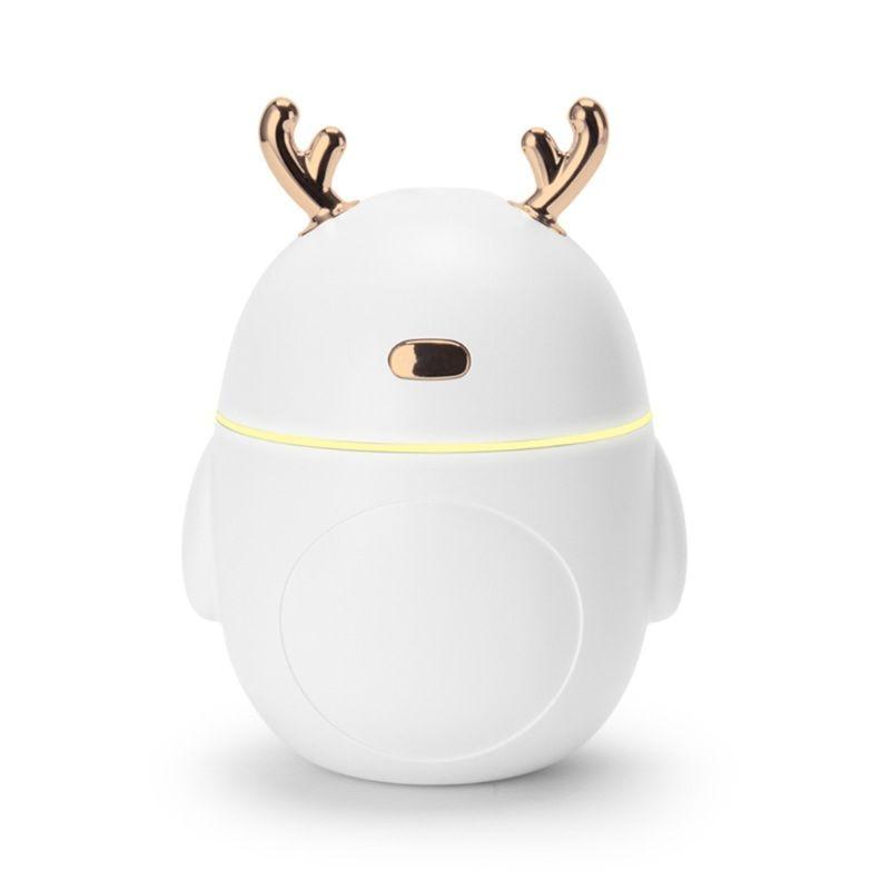 Deer Penguin Night Light Air Humidifier Aroma Essential Oil Diffuser USB Fogger Mist Maker LED Lamp Home Decor 320mL New 2019