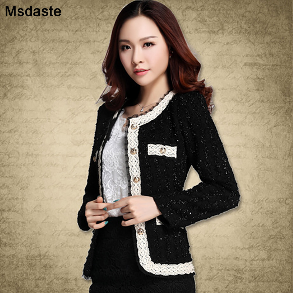 2019 Blazer Women Paillette Formal Blaser Coats And Jacket For Woman Work Wear Elegant Lady Coat Suit Top Jaqueta Chaqueta Mujer