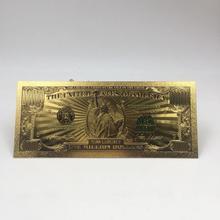 1 шт. Прямая доставка высокого качества $1 миллион долларов банкноты украшения Античная никелированная золото США сувенир домашнее украшени...