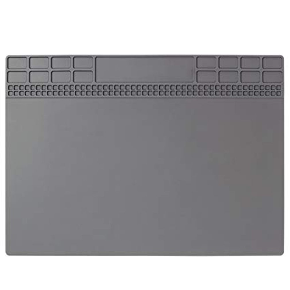 Magnetic Silicone Soldering Mat Insulation Repair Pad For Cellphone Welding Heat Resistant Soldering Station Iron Gray