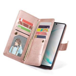 Image 5 - 9 karte Halter Brieftasche Fall für Samsung Galaxy Note 10 Plus Hinweis 9 S10 S9 S8 Plus S10E Flip Leder abnehmbare Magnet Telefon Fall
