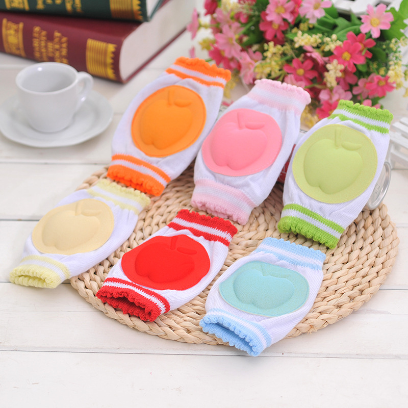 Solid Color Lovely Knee Sleeve For Girls Boys Knee Pad Kids Safety Crawling Elbow Cushion Leg Warmer Kneecap Support Protector