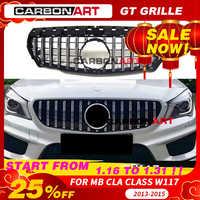 Rejilla CLA W117 GT style para Mercedes, parrilla frontal para CLA clase W117 C117 CLA200 220 CLA260 300 2013-2015