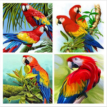 Fezrgea DIY 5D Diamond Painting Animal Parrot Bird Embroidery Round drill Picture Cross stitch Home Decoration